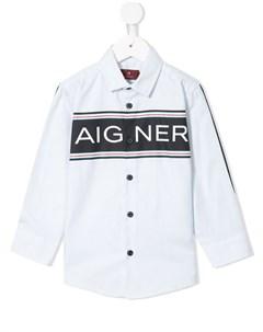 Рубашка с логотипом Aigner kids