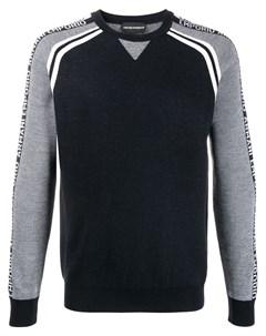 Пуловер с круглым вырезом и узором Emporio armani