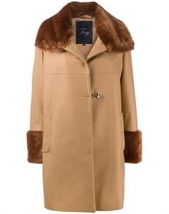 Пальто с мехом Fay
