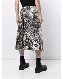 Стеганые широкие брюки с абстрактным принтом Takahiromiyashita the soloist