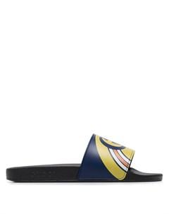 Шлепанцы Pursuit с логотипом Gucci
