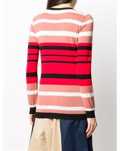 Пуловер в полоску с V образным вырезом Marni