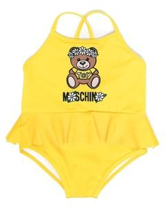 Купальник с логотипом Moschino kids