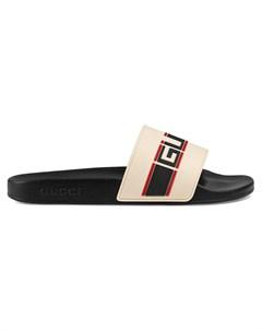 Шлепанцы с логотипом Gucci