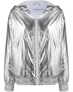 Ветровка с капюшоном и эффектом металлик Calvin klein jeans