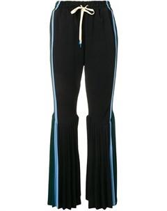 Плиссированные расклешенные брюки Facetasm