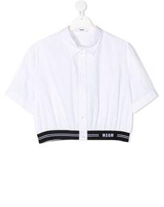 Укороченная рубашка Msgm kids