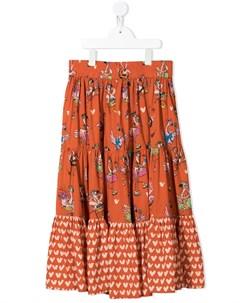 Ярусная юбка Flamingo Party Stella mccartney kids