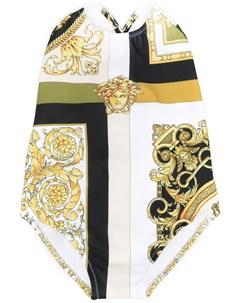 Купальник с принтом Barocco Mosaic Young versace