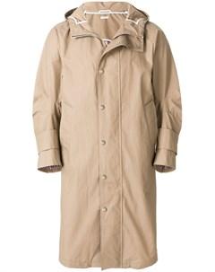 Пальто с капюшоном и полосками на спине Thom browne