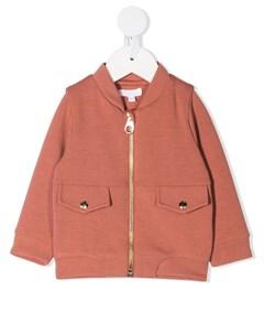 Куртка с декорированным логотипом Chloé kids
