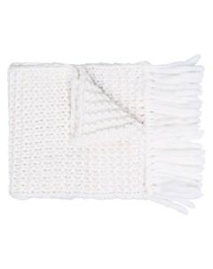 Объемный шарф с вышитым логотипом Fendi