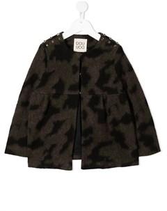 Куртка с абстрактным принтом и заклепками Douuod kids
