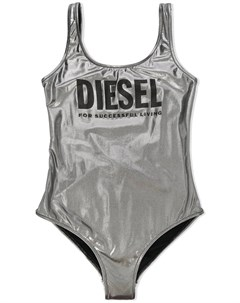 Купальник из ткани ламе с логотипом Diesel kids