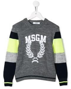 Трикотажный джемпер с логотипом Msgm kids