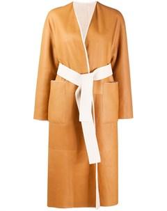 Пальто средней длины с поясом Blancha