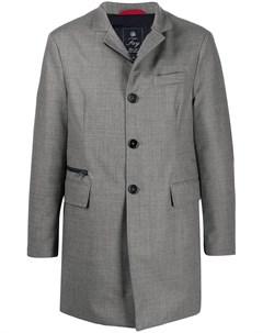 Однобортное пальто строгого кроя Fay