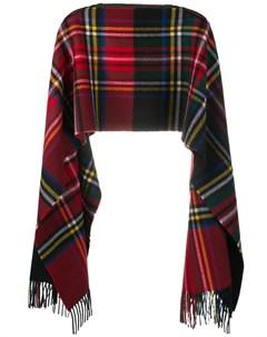 Клетчатый шарф пончо Comme des garçons shirt