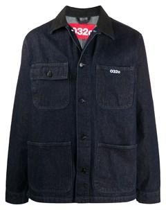 Джинсовая куртка с вышитым логотипом 032c