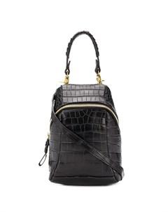 Маленькая сумка на плечо с тиснением под кожу крокодила Cornelian taurus by daisuke iwanaga