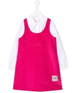Вельветовое платье рубашка Nº21 kids