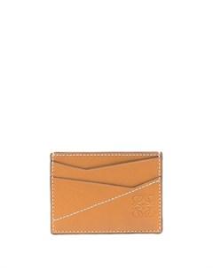 Картхолдер с контрастной строчкой и тисненым логотипом Loewe
