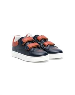 Двухцветные кроссовки Emporio armani kids