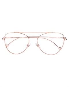 Очки в круглой оправе Fendi eyewear