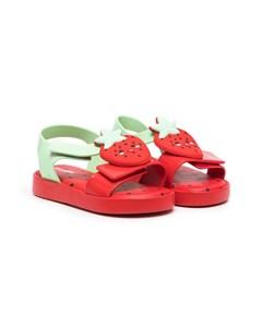 Сандалии Strawberry с открытым носком Mini melissa