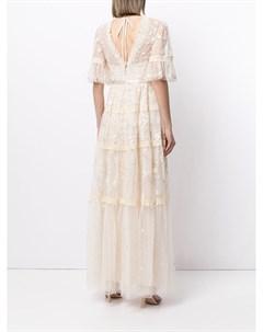 Кружевное платье Midsummer с вышивкой Needle & thread