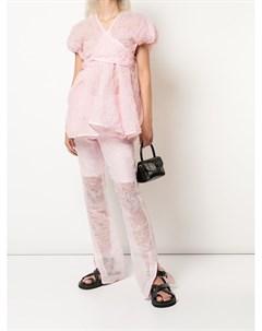 Широкие брюки с завышенной талией Cecilie bahnsen