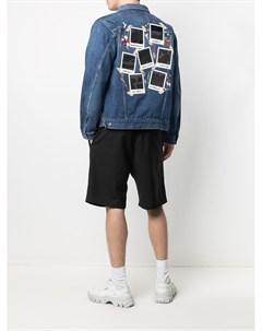 Джинсовая куртка с графичным принтом Doublet