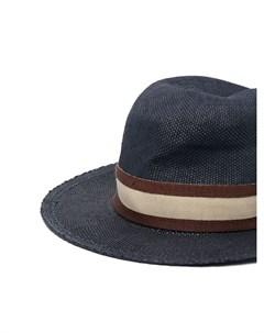 Шляпа федора с лентой в полоску Eleventy