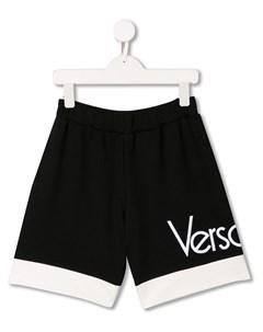 Шорты с контрастной отделкой Versace kids