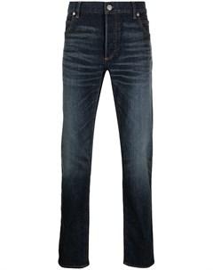 Зауженные джинсы с вышитым логотипом Balmain