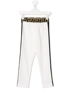 Джоггеры с полосками по бокам Versace kids