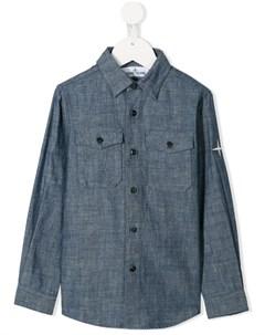 Рубашка с нагрудным карманом Stone island junior