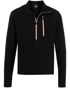 Флисовый пуловер с воротником на молнии Moncler grenoble