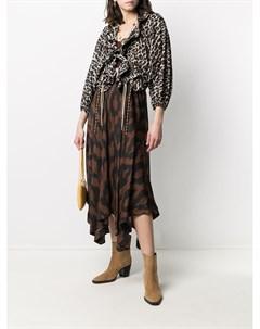 Блузка с леопардовым принтом и завязками Bazar deluxe