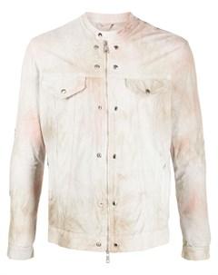 Куртка на молнии с принтом тай дай Giorgio brato