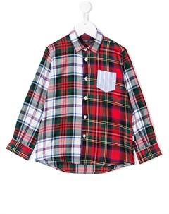 Рубашка в контрастную клетку Il gufo