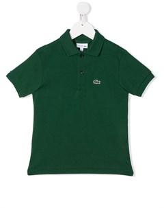 Рубашка поло с короткими рукавами и логотипом Lacoste kids