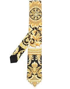 Галстук с принтом Barocco Versace