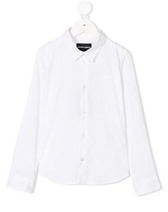 Классическая рубашка на пуговицах Emporio armani kids