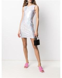 Платье мини Vision с голографическим эффектом Saks potts