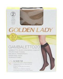 Гольфы 20 ден 2 шт Golden lady