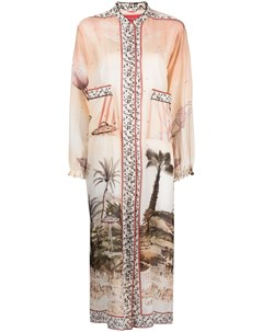 Платье рубашка с принтом F.r.s for restless sleepers