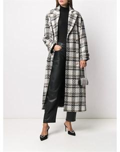 Двубортное пальто в клетку Alessandra rich