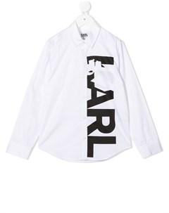Рубашка с логотипом Karl lagerfeld kids