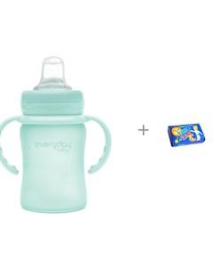 Поильник Стеклянная бутылочка с мягким носиком 150 мл и Мыло Свобода Тик так 150 г Everyday baby